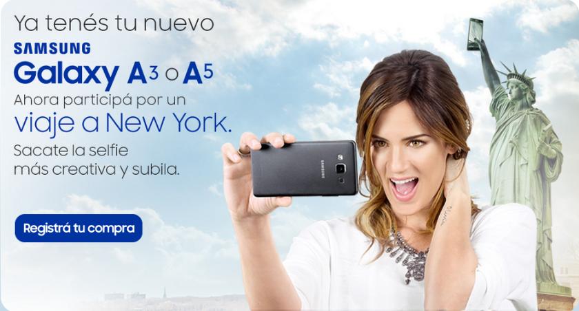 Promo Compumundo Registra tu Galaxy A3 o A5 y gana un viaje a New York
