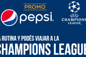 Promo pepsi UEFA Champions, cargar tapas