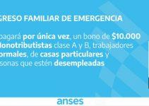 Anotarse para el bono de 10.000 pesos de Anses